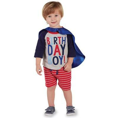 Toddler Mud Pie Birthday Boy Shirt & Cape - Sizes 2T and 3T