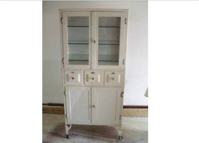 Antique Steel Medical Cabinet - ALL ORIGINAL - PRICE REDUCTION THROUGH 2/23 ONLY