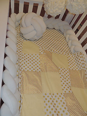 Braided Crib Bumpers(Nursery  Baby bedding)Premium Cotton (20 colors to choose )