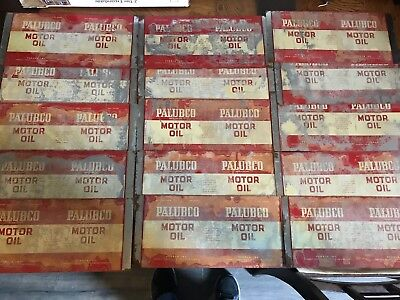 PALUBCO MOTOR OIL UNROLLED OIL CANS, 1 QT,    MID CENTURY from Pittsburgh PA