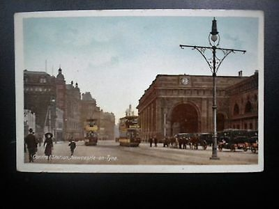 Db Postcard View Of Central Station, Newcastle-On-Tyne, England, 1900's