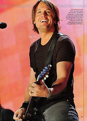 Keith Urban 2 Page Picture Clipping Country Music