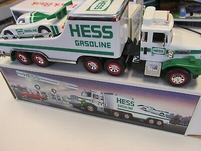 HESS 1988 Toy Truck and Racer Race Car with Box *Damaged Box*