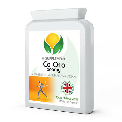 Co Enzyme Q10 CoQ10 100mg 180 Capsules Energy Heart Support (2 packs x 90)