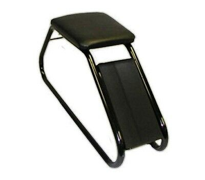 Shoe Fitting Stool With Black Padded Seat and Black Frame