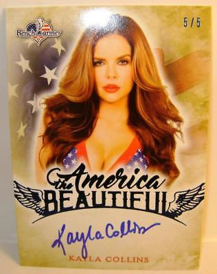 Kayla Collins Blue Autograph Auto 5/5 America The Beautiful Bench Warmer 2017