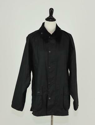 Nwt Men's Barbour Equestrian Bedale Wax Cotton Jacket 46 Xxl Black 19353