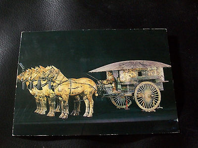 4x6 Vintage Postcard-  Bronze chariot and four horses from China