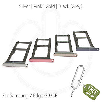 SIM & SD Card Tray Holder for Samsung Galaxy S7 Edge G935F with Ejector Pin Tool