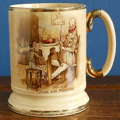 A Vintage Arthur Wood Tankard – Dickins David Copperfield / Micawber [imperfect]