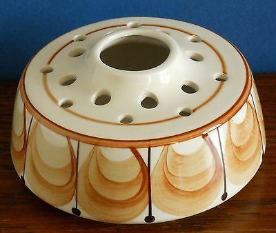A Hand painted Jersey pottery potpourri holder