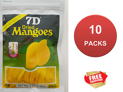 10 x 7D Dried Mango Philippines Mangoes (10 x 75g) NEW