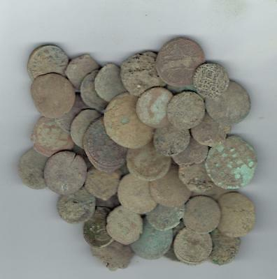 LARGE SIZE Dirty Ancient Roman Coins, 20-24 mm, found in Jerusalem & Holyland