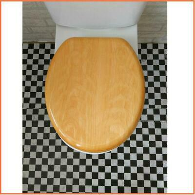 Timber Toilet Seat Solid Brewer Heritage Wood Bathroom High Quality Au Stock