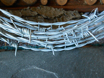 100' ... 15.5 gauge...4 point Barb Wire for western/rustic crafts.