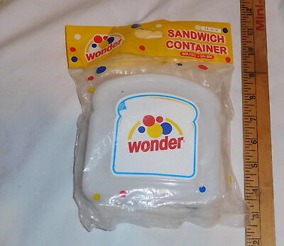 vintage Wonder Bread Sandwich Container BPA Free Sin BPA Sealed new