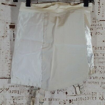 Vintage Perma lift Womens Size 28 Open Bottom girdle with 4 garders hooks zipper