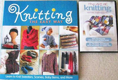Knitting The Easy Way Instructions, Photos & Projects + The Art Of Knitting Dvd