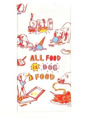 Blue Q Screen Printed Cotton Kitchen Dish Towel - All Food Is Dog Food