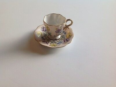 Antique Vintage Miniature Cup And Saucer Made In Occupied Japan