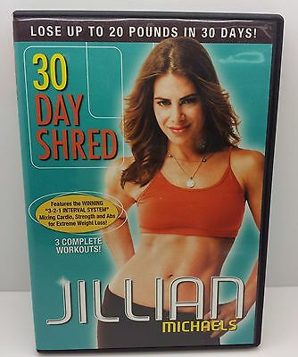 DVD:Jillian Michaels - 30 Day Shred 3 Complete Workouts Ships Fast!  Like New