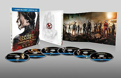 The Hunger Games Complete 4 Film Collection Blu-ray Set Digital Lawrence Box Lot