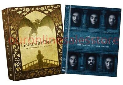Game of Thrones Complete  DVD Set Fifth Sixth Seasons 5 6 Five Six Series TV HBO
