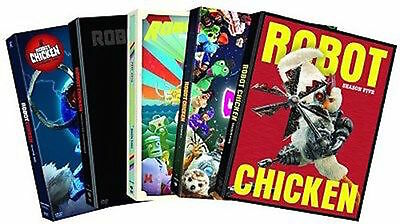 Robot Chicken Complete Season 1-5 DVD Set Cartoon Network Collection Lot Series