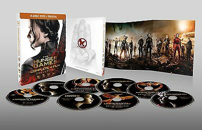 The Hunger Games Complete 4 Film Collection DVD Set Digital Lawrence Box Lot TV