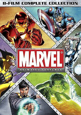 Marvel Animated Features 8 Film Complete Collection DVD Set Series TV Show Iron