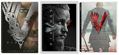 Vikings Season 1 2 3 One Two Three Complete DVD Set Series TV History Colle