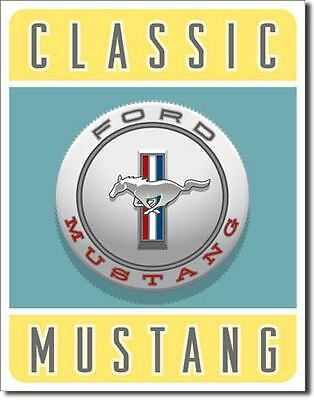 Classic Mustang Tin Sign Ford Pony Garage Shed Nostalgic