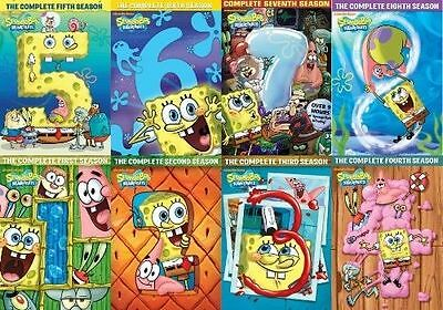 SPONGEBOB SQUAREPANTS Complete All SEASON 1-8 DVD Set Nickelodeon Video Lot Kids