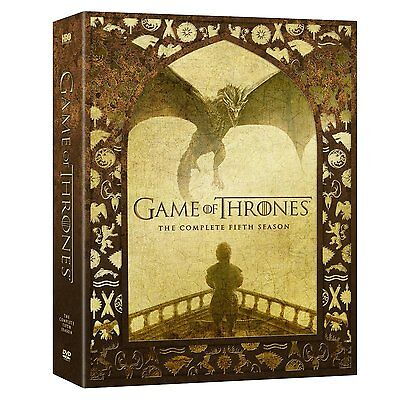 Game of Thrones Complete Fifth Season 5 Five DVD Set Series TV Collection HBO