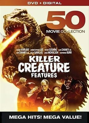 KILLER CREATURE FEATURES 50 Film COLLECTION DVD Set Digital Box Boris Karloff TV