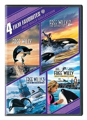 Free Willy Complete 1 2 3 4 Movies Collection Lot DVD Set Film Orca Killer Whale