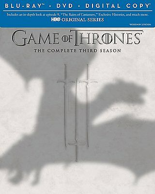 Game of Thrones Complete Third Season 3 Blu-ray DVD Set Series Episodes TV Three