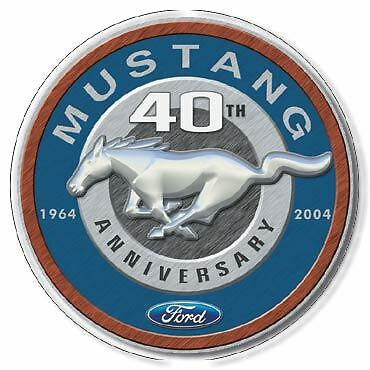 MUSTANG 40th ANNIVERSARY TIN SIGN FORD GARAGE SHED 1964 - 2004