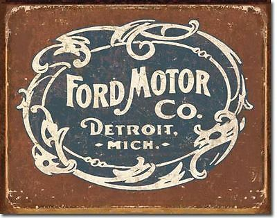 Ford Motor Company  Historic Logo Tin Sign Garage Shed Hotrod