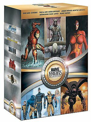 MARVEL KNIGHTS COLLECTION DVD Set Iron Man Black Panther Wolverine Animation Box