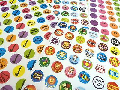 1000 Children's Reward Stickers Chart Motivation Kids Teacher School Well Done