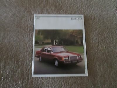 1985 FORD LTD Original Color Showroom Car Sales Brochure. Auto; 24 PAGES