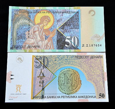 Mazedonien Macedonia 50 Denari 2007 P-15 UNC BANKNOTE CURRENCY