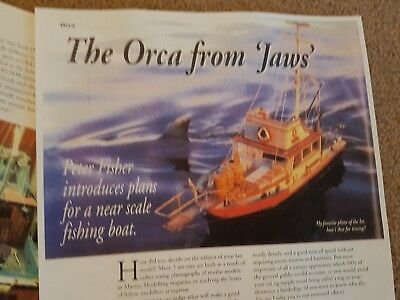 Orca Jaws Movie Boat Model Boat Magazine 3 Inserts Detail Notes