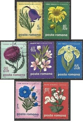 Romania 1970 Flowers (7) Fine Used (CTO) SEE SCAN