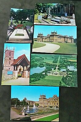 POSTCARDS: ENGLAND CHURCH HILL GRAVES & BLENHEIM PALACE x 6