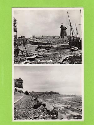 Lynmouth before & after Flood 1952 unused RP pc Harvey Barton Ref C896