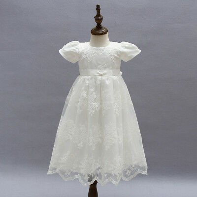 Baby Girl Dress Christening Baptism Gown Formal Party Special Occasion Dress US
