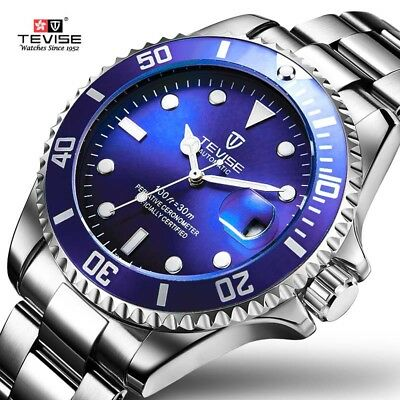 Tevise Top  Men Mechanical Watch Automatic Role Date Fashione luxury submarin...