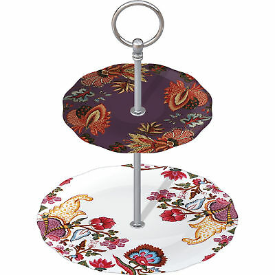 """Creative Tops V & A Inspired """"toile"""" 2 Tier Cake Stand - New & Boxed"""